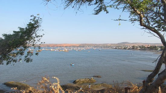 MANTA Sail Training Centre : View from Mui Ne whale temple to MANTA with red dunes behind - photo from Andrew Parker