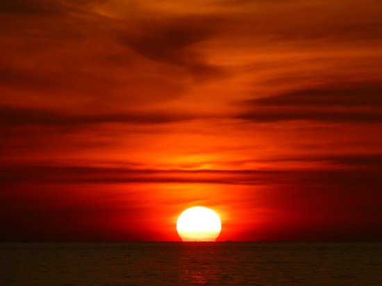 Sandoway Resort: One of the stunning sunsets