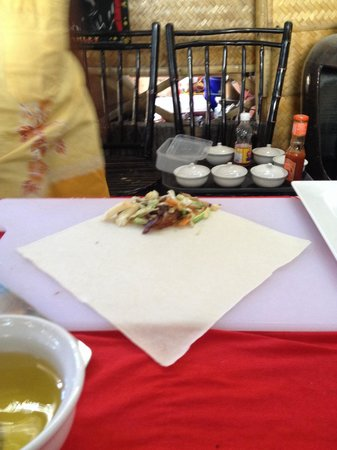 The Kitchen Restaurant Kata Beach & Thai Cooking Class : Spring roll process ;)