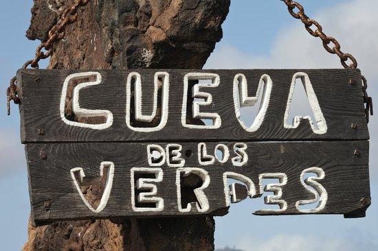 Cueva de los Verdes: cartello