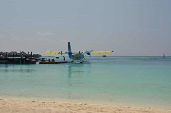 Constance Halaveli: A TMA seaplane at the main jetty