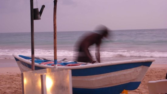 Central Beach Inn: vue de la barque ou vous choisissez votre poisson frais