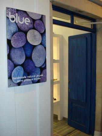 Blue Handmade Jewels : Blue Handmade Natural Jewels & Semiprecious Stones Parikia, Paros Store