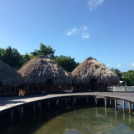 St. George's Caye Resort: view of over the water bungalows