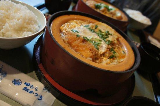 Tamura Ginkatsutei: 写真のご飯は大盛り