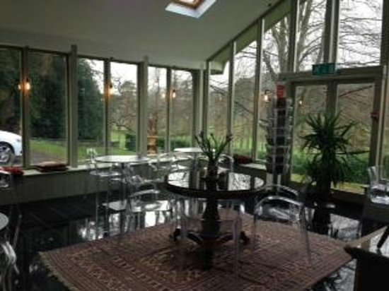 Ffin y Parc Country House: Light lunches in the conservatory