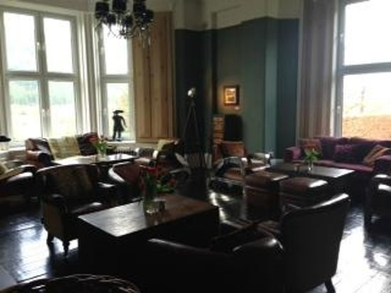 Ffin y Parc Country House: Relax in front of a log fire