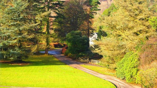 The Lingholm Estate: the view from the lounge window across the lawns