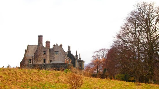 The Lingholm Estate: looking back at the house from the lake walk