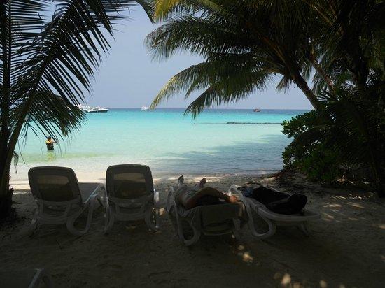 Kuramathi Island Resort: Spiaggia
