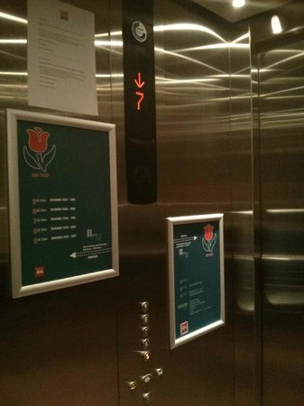 Ibis Amsterdam Centre: l'ascenseur