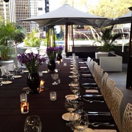 Long table dinner set up - Picture of Metro Bar & Bistro, Perth ...