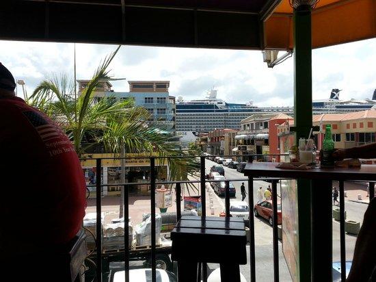 Iguana Joe's Caribbean Bar & Grill: from the balcony looking outwards