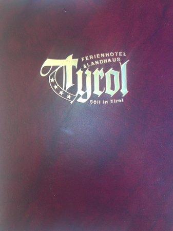 Hotel Tyrol am Wilden Kaiser: booklet