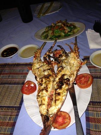Sunset View Beach Bar & Restaurant : Langouste grillée