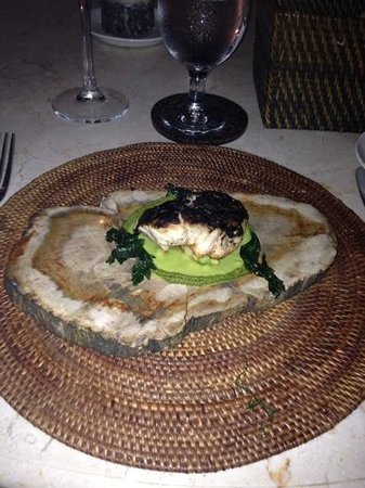 Park Cafe: second course of fish underneath delicious sauce