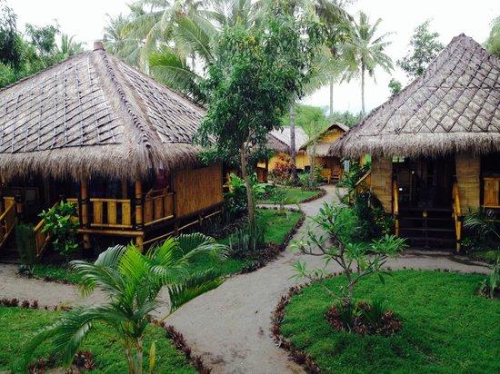 Rinjani Beach Eco Resort: Hotel gardens
