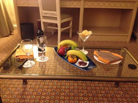 A nice surprise when we returned to our room