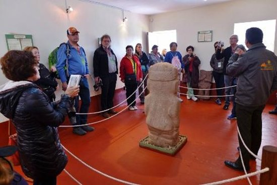 Pucara, Peru: This stone carving has its own room