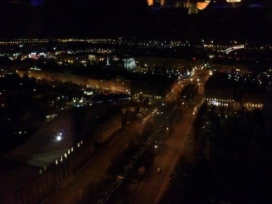 Riga Region, Latvia: Riga from skydeck at night