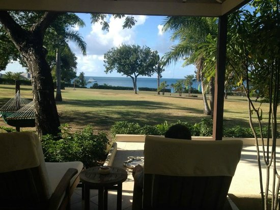 Jumby Bay, A Rosewood Resort: View from rondavel patio