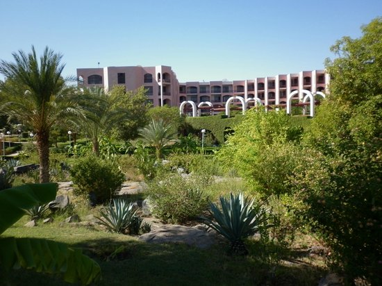 LTI - Pyramisa Isis Island Resort & Spa : Vue de l'hôtel et ses jardins