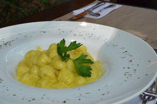 La Finestra: Nuestro exquisito plato de Gnocchi Gorgonzola Zaferano