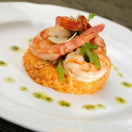 View Restaurant: Rissoto with shrimp