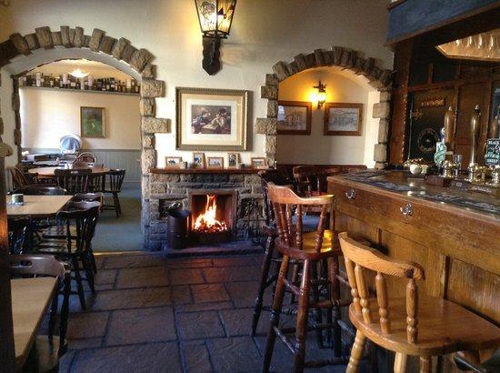 The Black Bull: Bar & Fireplace
