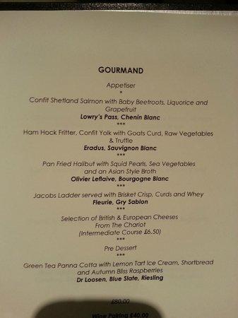 The Samling Hotel: Amazing menu