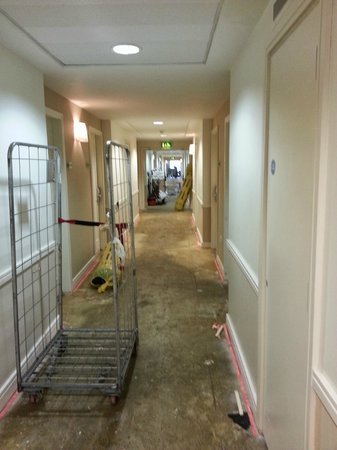 The River Lee : Replacing carpets on 4th floor during our stay