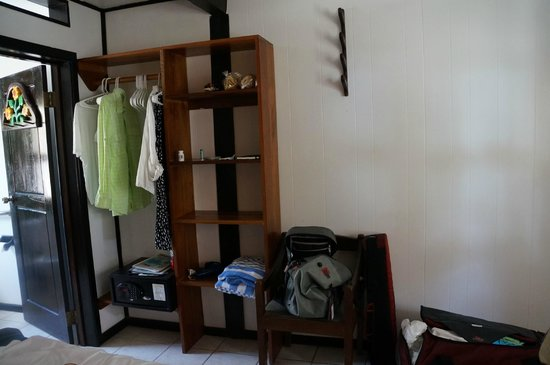 El Pescador Resort : Cubbies and Closet with Rod Rack on wall