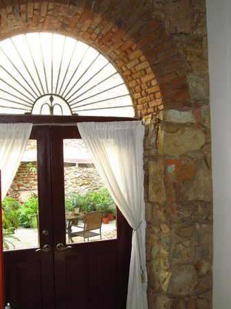 Casa Sucre Boutique Hotel : View from the bedroom with original sstone walls