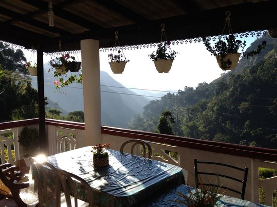 Paddyfield Guest House : View with breakfast