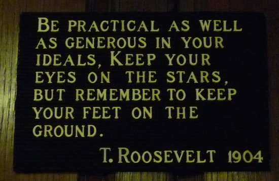 Theodore Roosevelt Birthplace National Historic Site: quote from TR