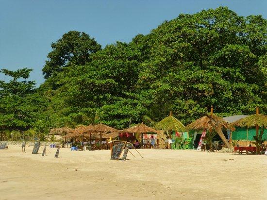 Massage stalls on Ngapali Beach