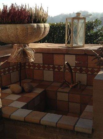 B&B Gallo delle Pille: la cucina del portico