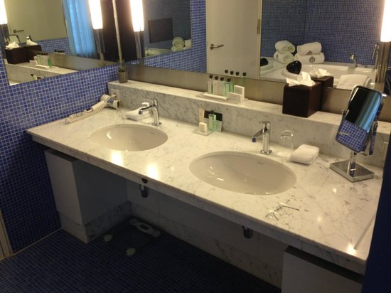De L'Europe Amsterdam : Good water pressure, temperature adjusts immediately (two sinks)
