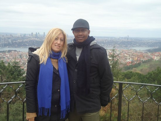Travel Shop Turkey - Istanbul Day Tours: Our guide Nurgul Uzan and Me at camlica Hill