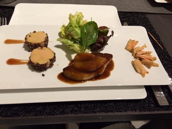 Restaurant la Taverne: trilogie de foie gras