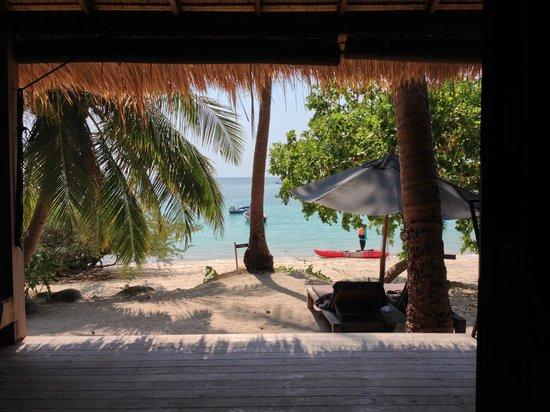 Haadtien Beach Resort : vista desde la habitación