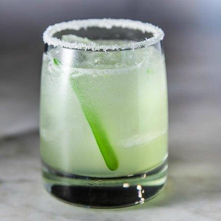 Agua y Sal Cebichería: Macho Margarita with Serrano Pepper