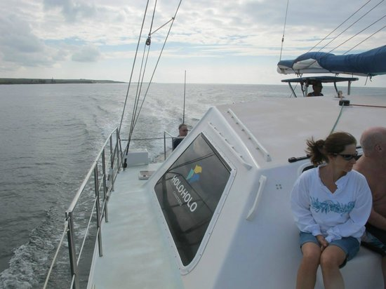 Holo Holo Charters: Boatsdie view