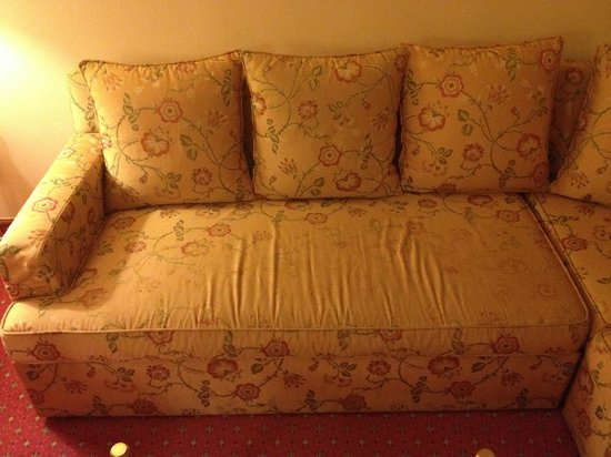 Belle-Essence Seoul Hotel: Worn out sofa in room