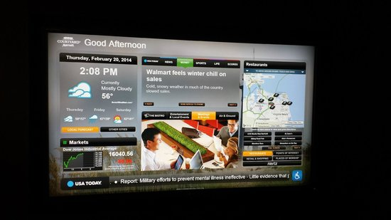 Courtyard Virginia Beach Norfolk: Interactive TV Screen