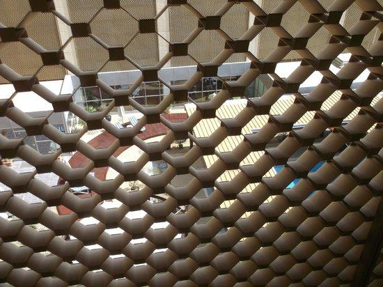 Radisson Blu Hotel, Riyadh: view from my window through screen