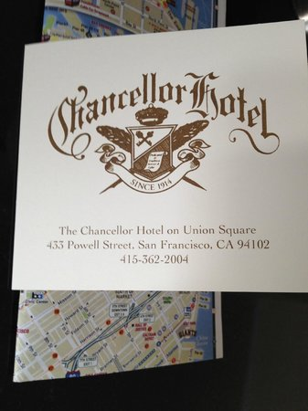 Chancellor Hotel on Union Square: Chancellor Hotel.