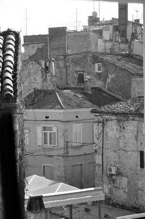 Riva Hostel: View from the back bar window