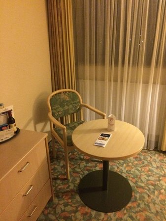 AMBER HOTEL Leonberg/Stuttgart: chair and table to eat food