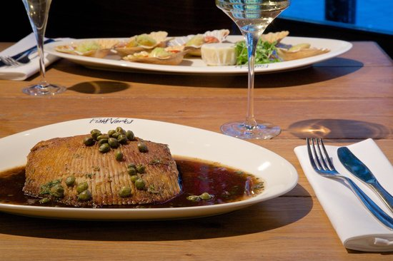 FishWorks - Marylebone : Devon Ray with capers and black butter...